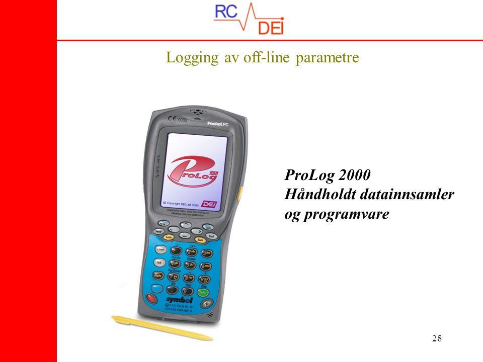 Logging av off-line parametre