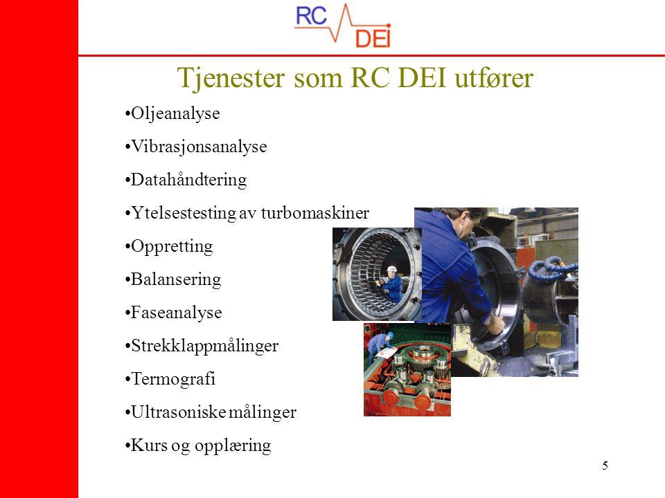 Tjenester som RC DEI utfører