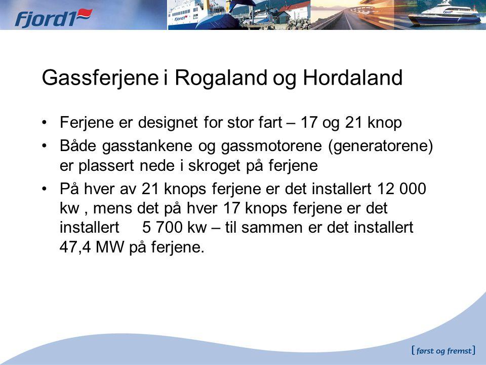 Gassferjene i Rogaland og Hordaland