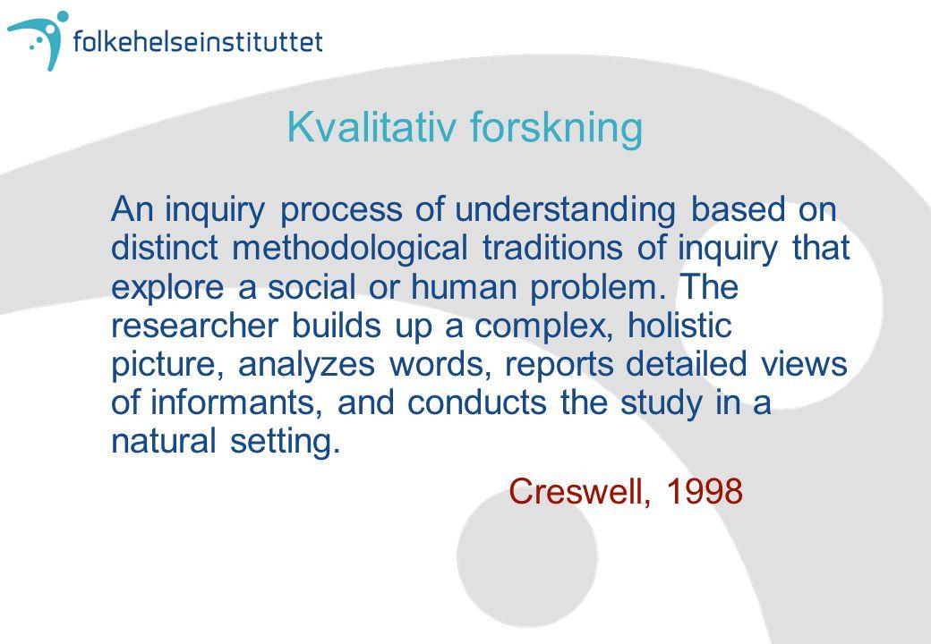 Kvalitativ forskning