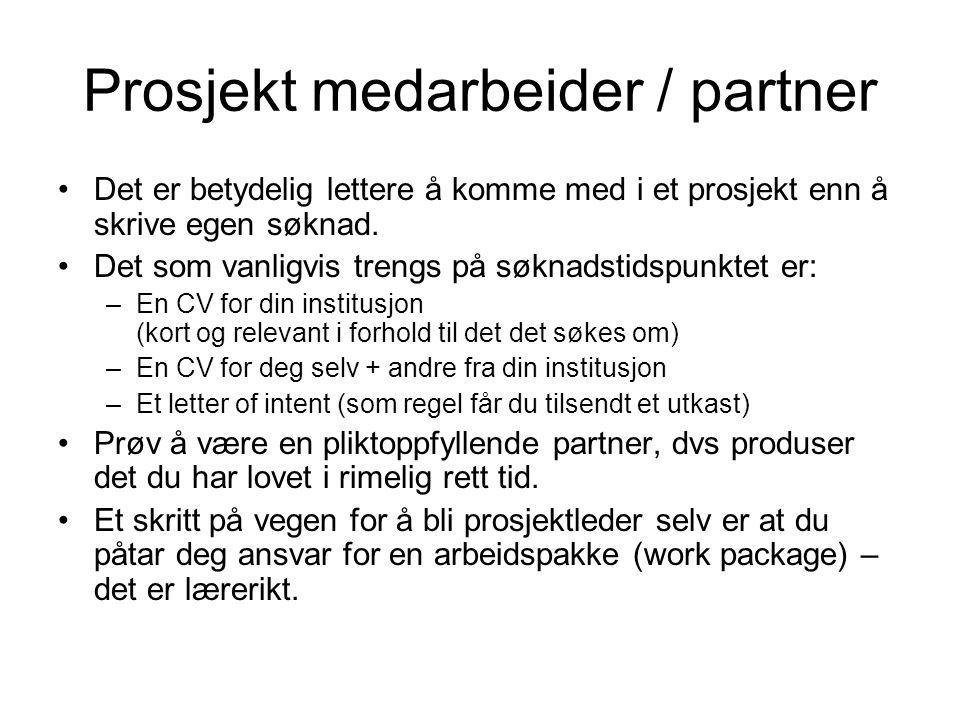 Prosjekt medarbeider / partner