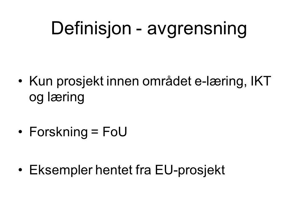 Definisjon - avgrensning