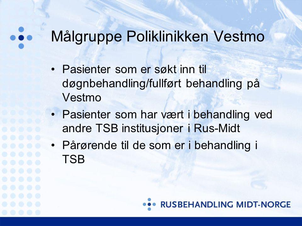 Målgruppe Poliklinikken Vestmo