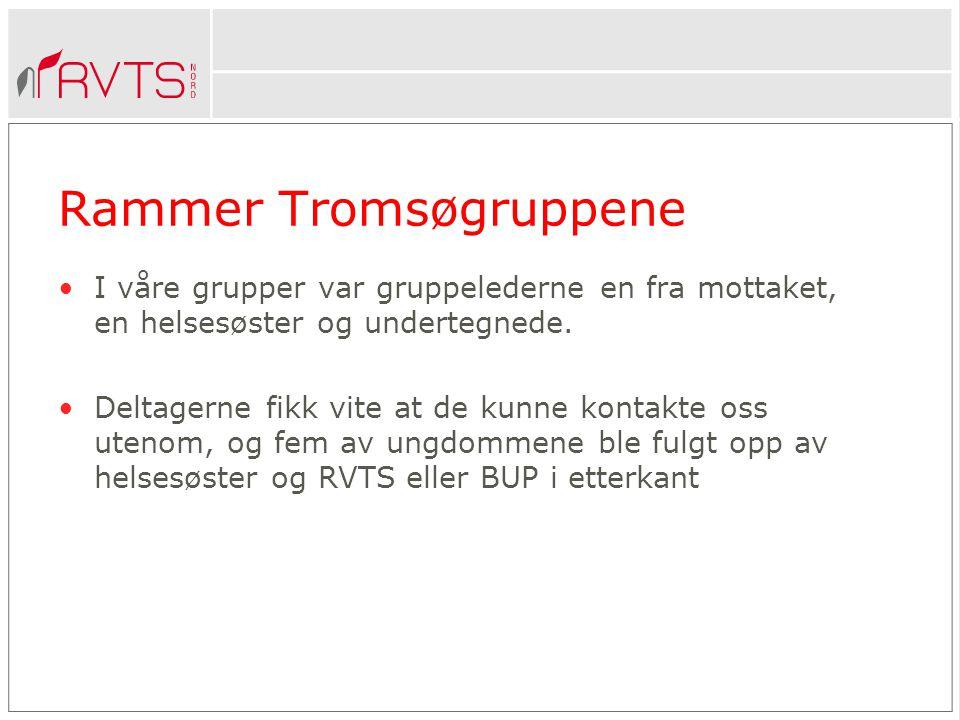 Rammer Tromsøgruppene