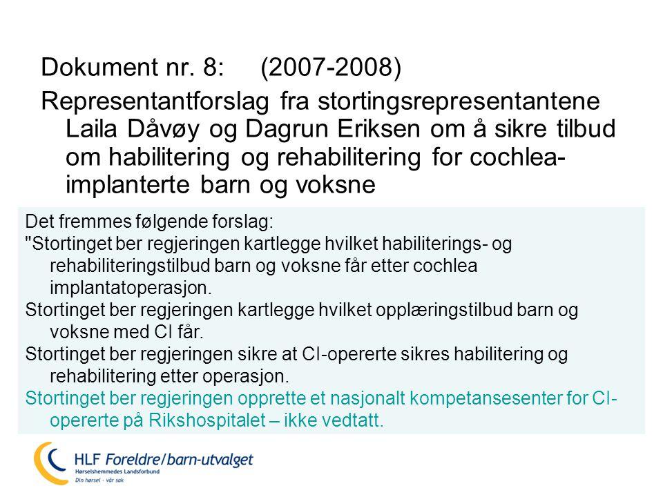 Dokument nr. 8: (2007-2008)