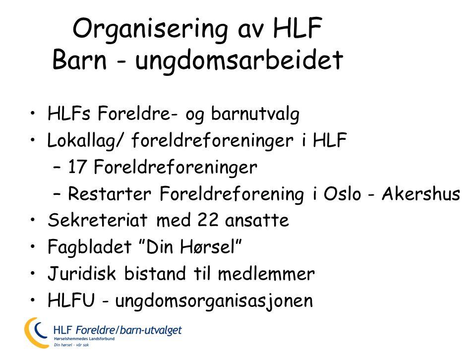 Organisering av HLF Barn - ungdomsarbeidet