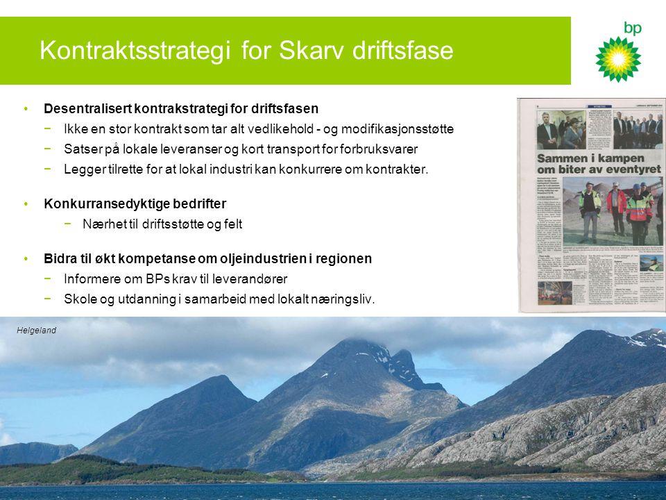 Kontraktsstrategi for Skarv driftsfase