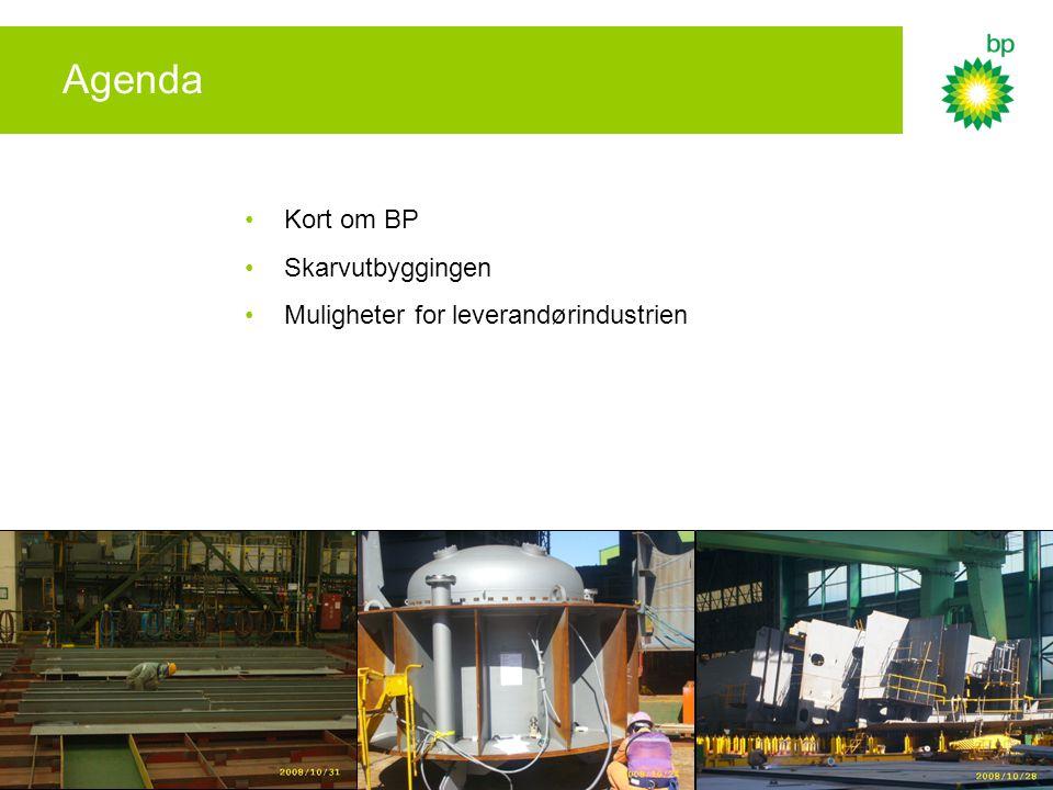 Agenda Kort om BP Skarvutbyggingen Muligheter for leverandørindustrien