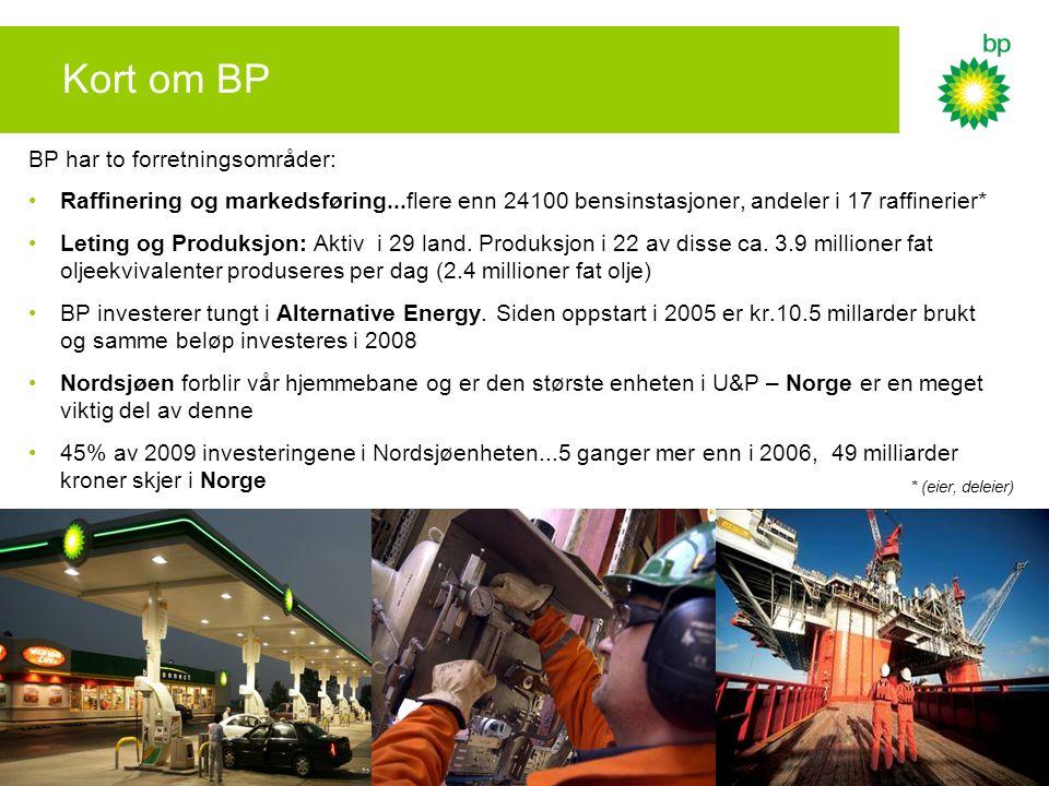 Kort om BP BP har to forretningsområder: