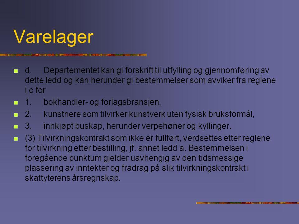 Varelager