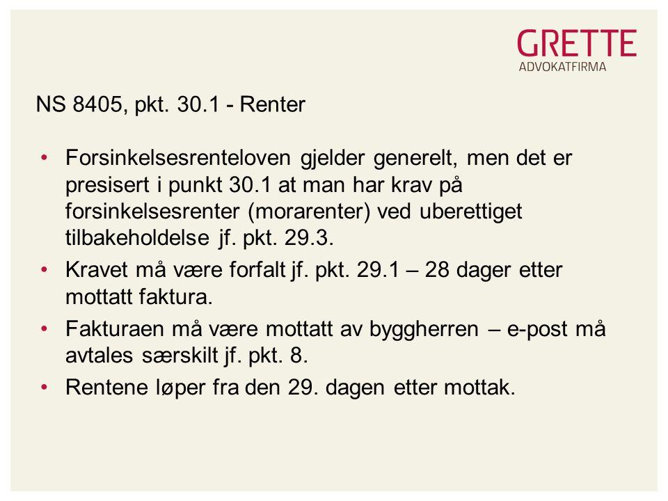 NS 8405, pkt. 30.1 - Renter
