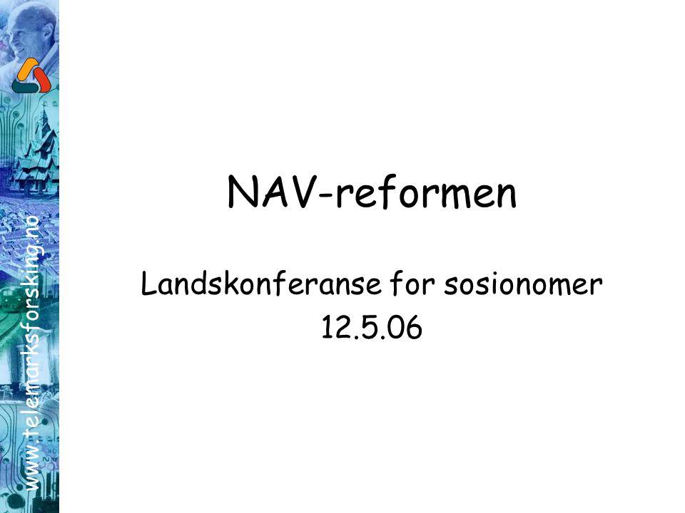 Landskonferanse for sosionomer 12.5.06