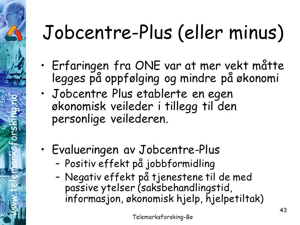 Jobcentre-Plus (eller minus)