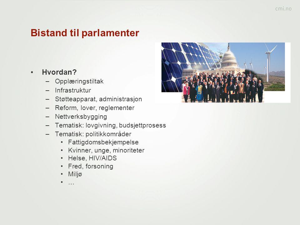 Bistand til parlamenter
