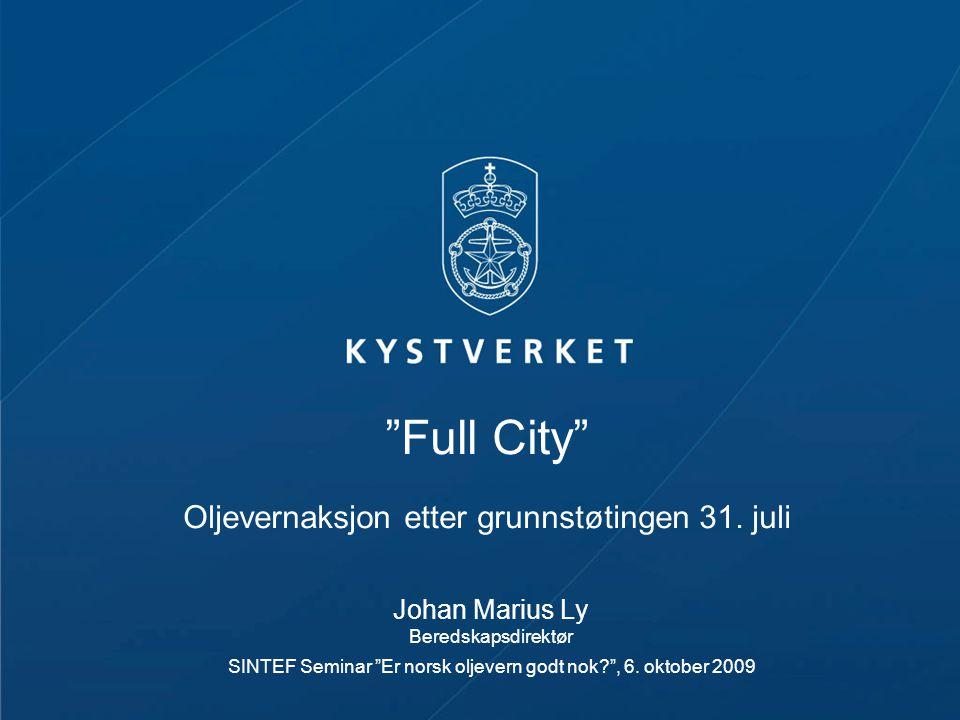 Full City Oljevernaksjon etter grunnstøtingen 31. juli