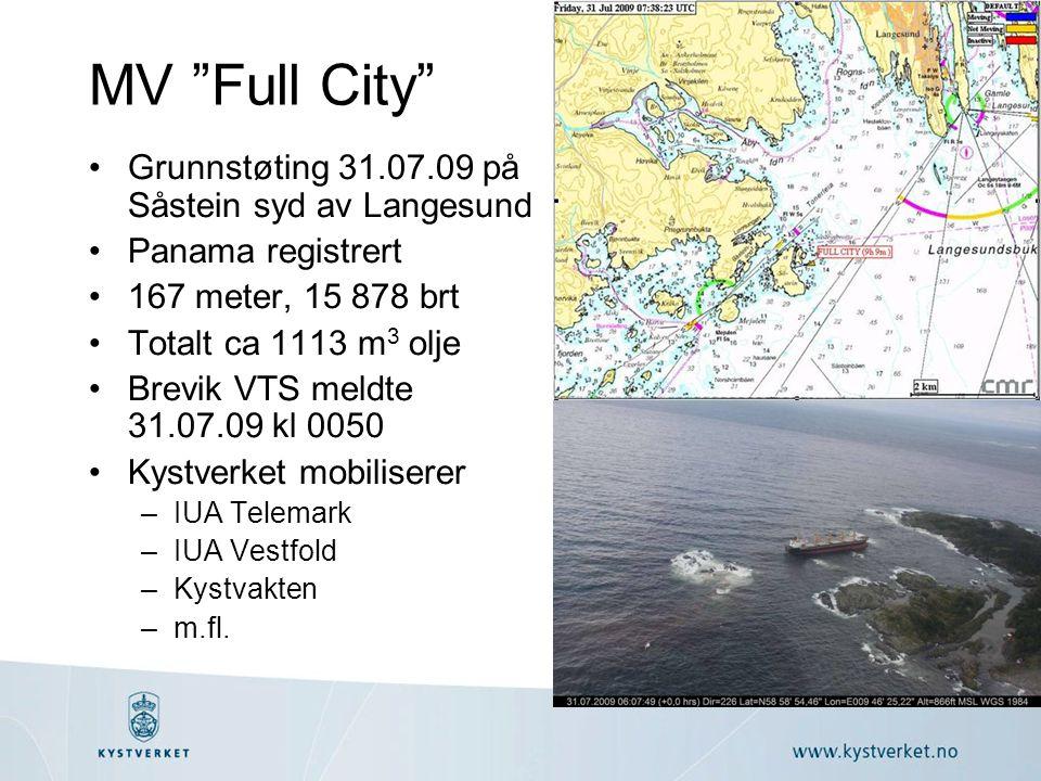 MV Full City Grunnstøting 31.07.09 på Såstein syd av Langesund