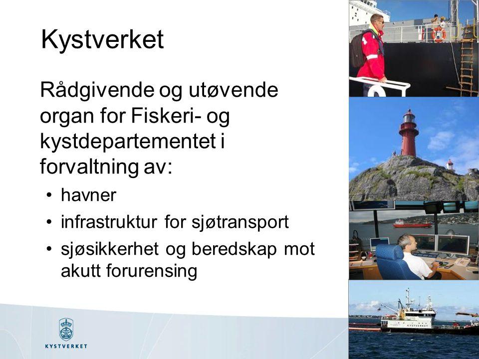 Kystverket Rådgivende og utøvende organ for Fiskeri- og kystdepartementet i forvaltning av: havner.