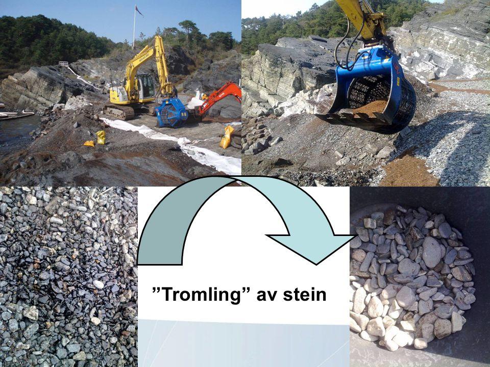 Tromling av stein