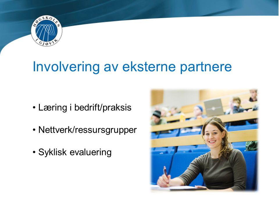 Involvering av eksterne partnere