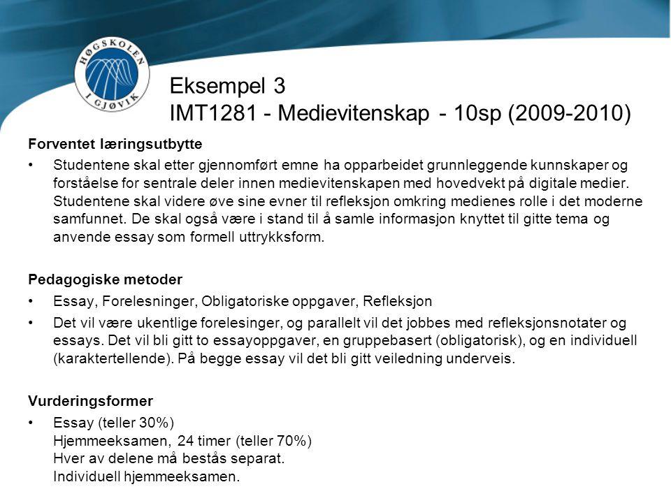 Eksempel 3 IMT1281 - Medievitenskap - 10sp (2009-2010)