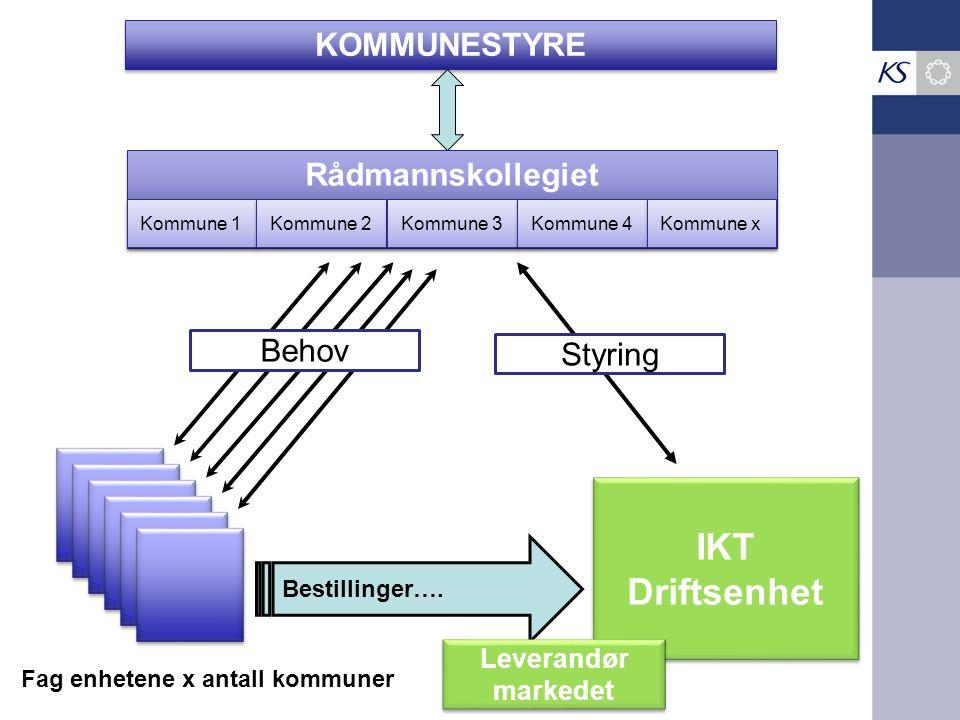IKT Driftsenhet KOMMUNESTYRE Rådmannskollegiet Behov Styring