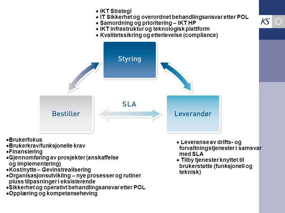 IKT Strategi IT Sikkerhet og overordnet behandlingsansvar etter POL. Samordning og prioritering – IKT HP.