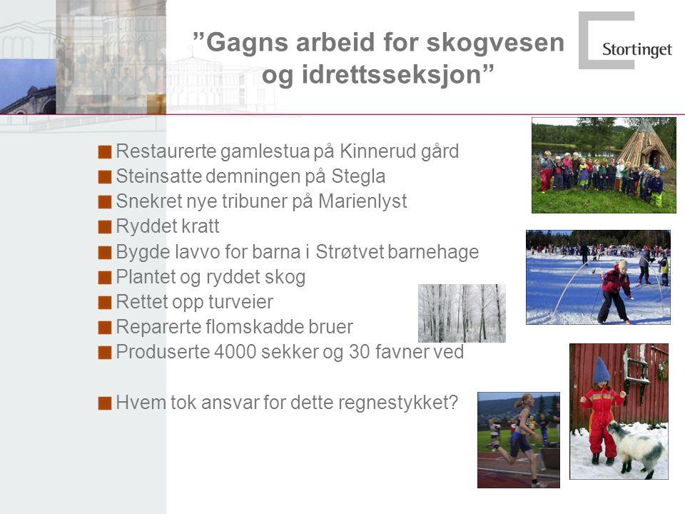 Gagns arbeid for skogvesen og idrettsseksjon