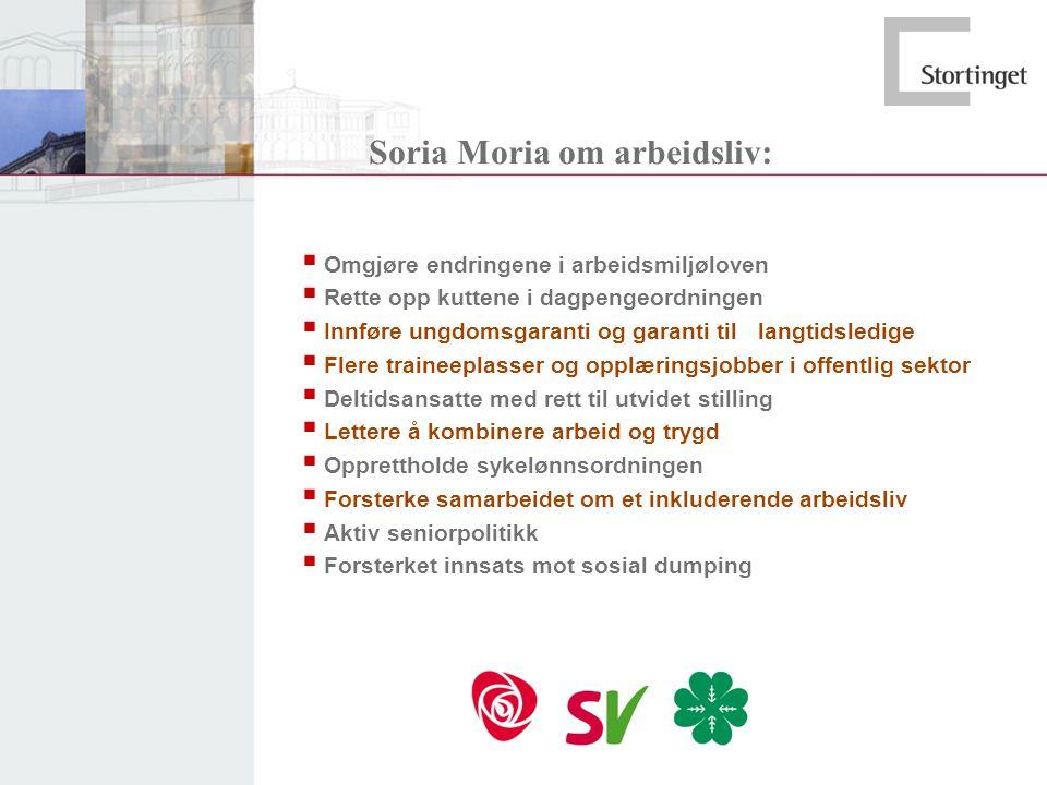 Soria Moria om arbeidsliv: