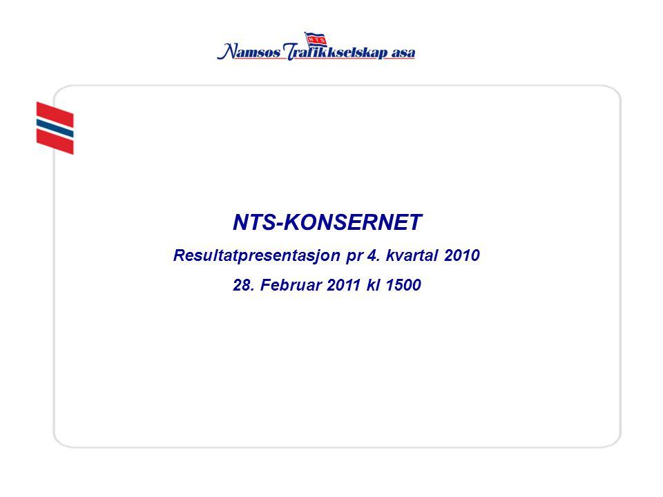 Resultatpresentasjon pr 4. kvartal 2010