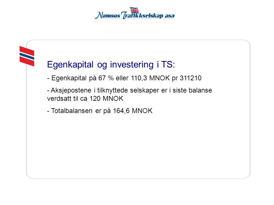 Egenkapital og investering i TS: