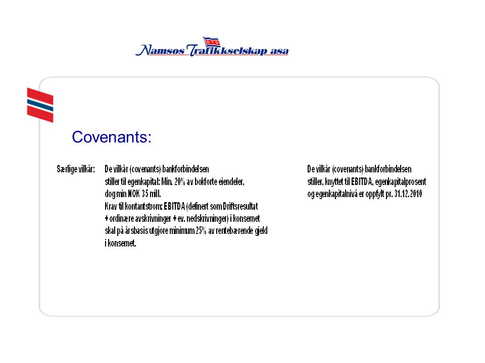 Covenants: