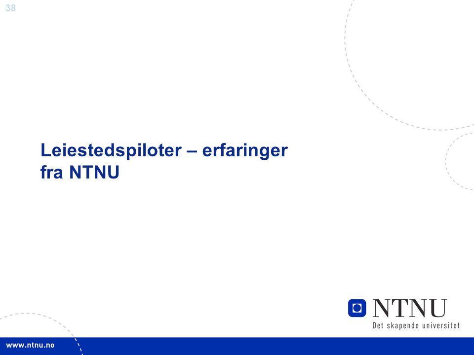 Leiestedspiloter – erfaringer fra NTNU