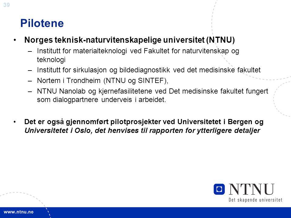 Pilotene Norges teknisk-naturvitenskapelige universitet (NTNU)