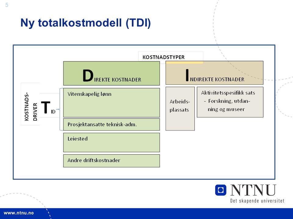 Ny totalkostmodell (TDI)