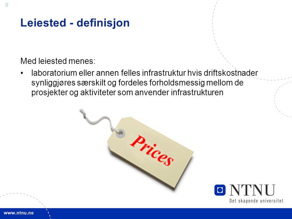 Leiested - definisjon Med leiested menes: