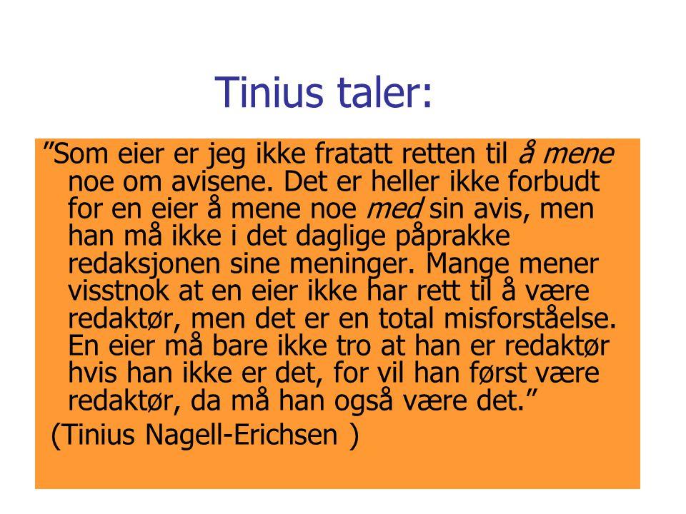 Tinius taler: