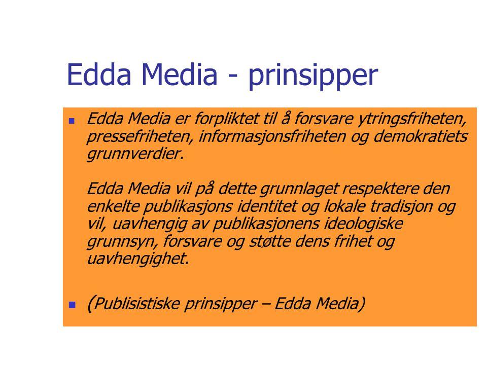 Edda Media - prinsipper