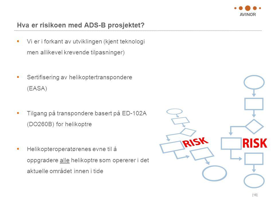 Hva er risikoen med ADS-B prosjektet