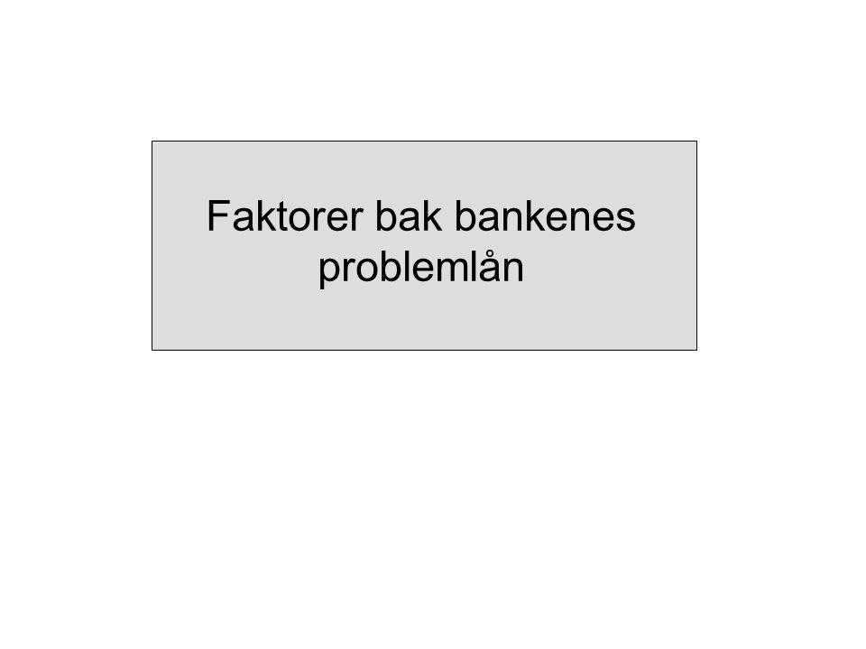 Faktorer bak bankenes problemlån