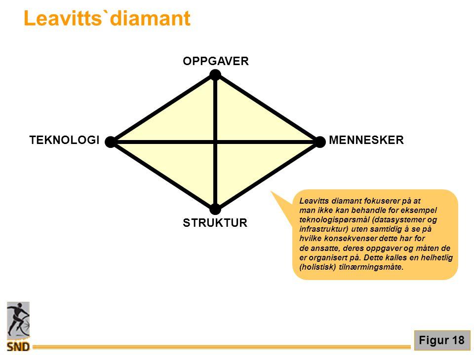 Leavitts`diamant STRUKTUR OPPGAVER MENNESKER TEKNOLOGI Figur 18