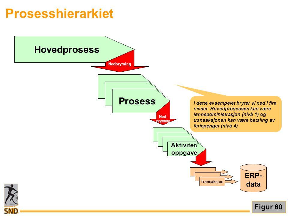 Prosesshierarkiet Hovedprosess Prosess ERP- data Figur 60 Aktivitet/