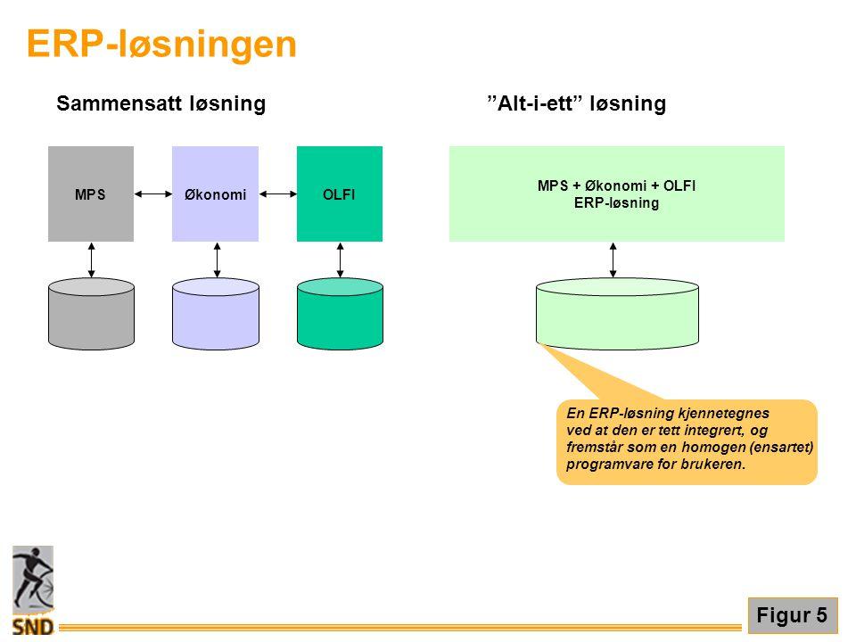 ERP-løsningen Sammensatt løsning Alt-i-ett løsning Figur 5 Økonomi