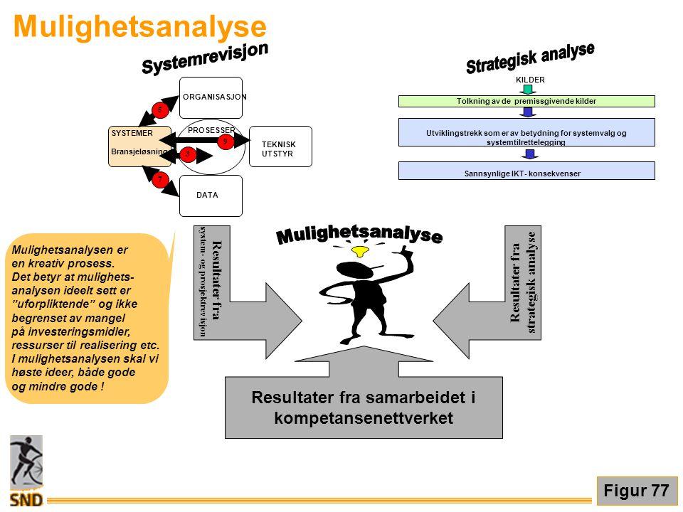 Mulighetsanalyse Mulighetsanalyse Strategisk analyse Systemrevisjon