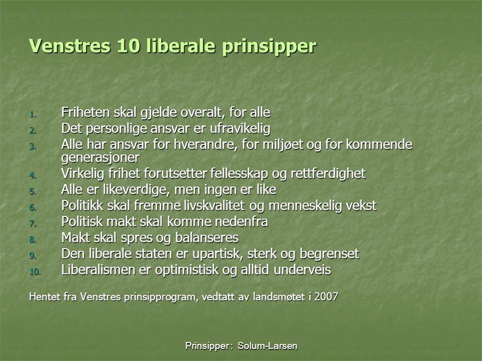 Venstres 10 liberale prinsipper