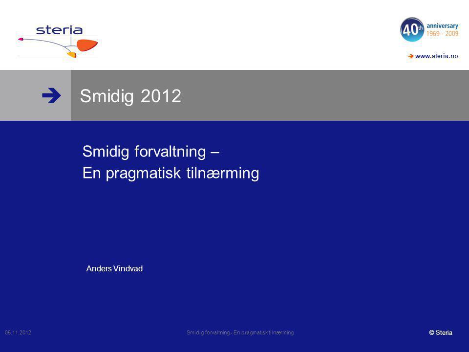 Smidig forvaltning – En pragmatisk tilnærming