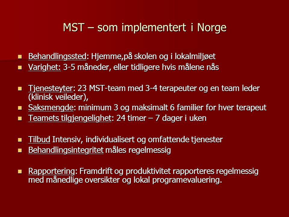 MST – som implementert i Norge