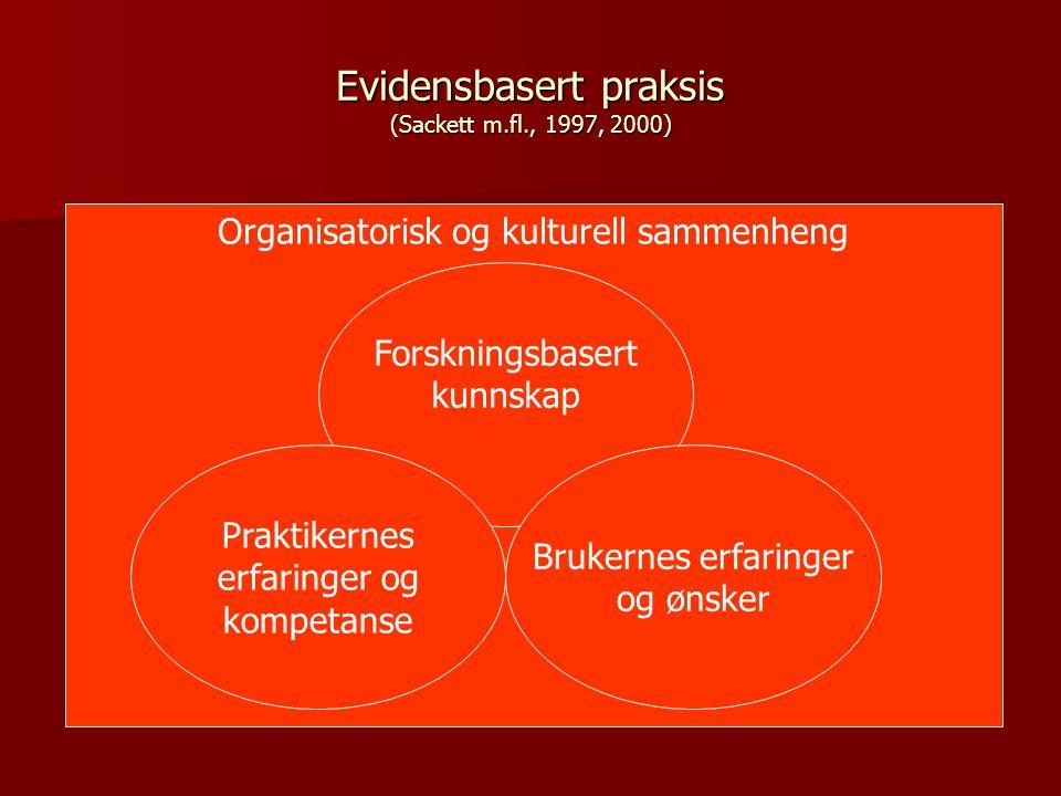 Evidensbasert praksis (Sackett m.fl., 1997, 2000)