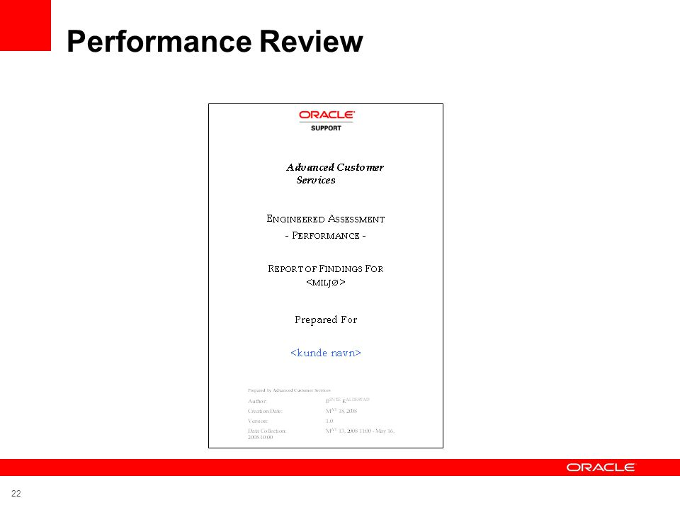 Performance Review 22