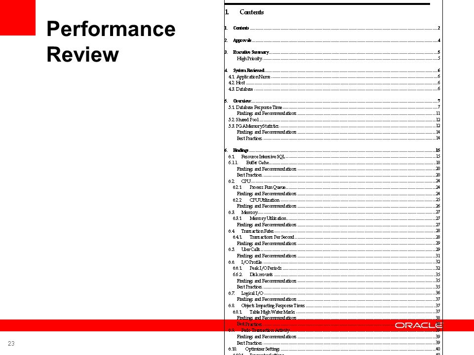 Performance Review 23
