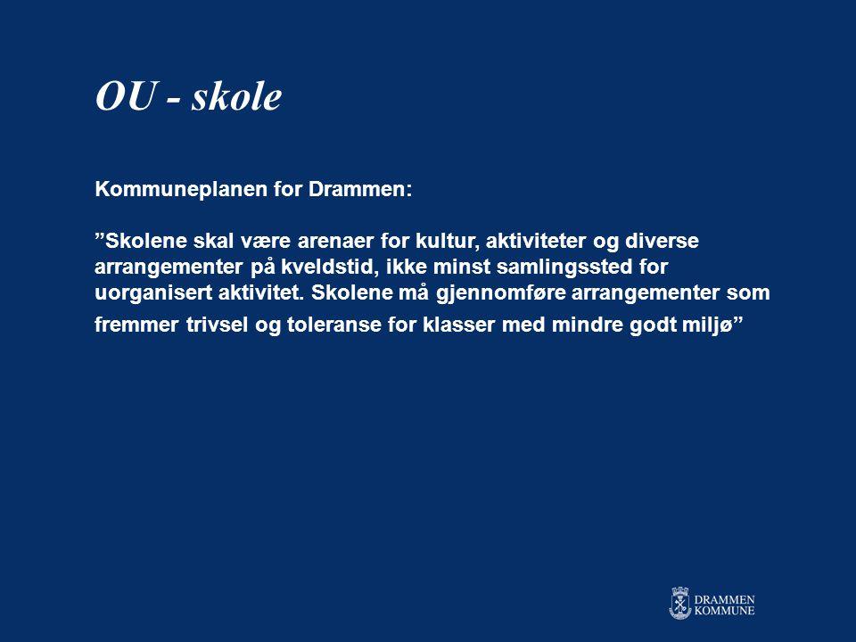 OU - skole Kommuneplanen for Drammen: